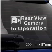 1 x Rear View Camera In Operation Window CCTV Sticker Security Sign Car Van Taxi Dashcam Go Pro